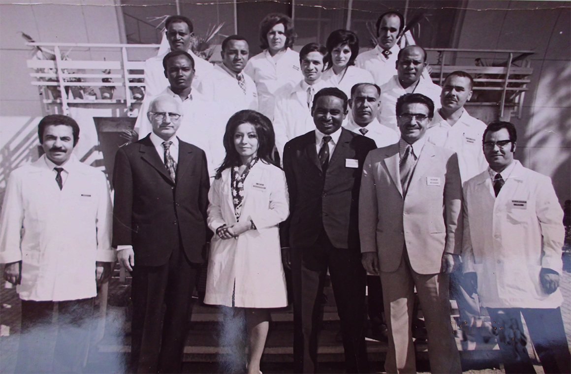Prof-Elsheikh-Mahgoub-in-front-of-Tehran-Central-Lab-Iran-1972